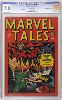 """Marvel Tales #94 Davis Crippen (""""D"""" Copy) pedigree (Atlas, 1949) CGC FN/VF 7.0 Off-white pages. This is just t..."""