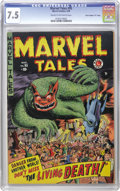 "Golden Age (1938-1955):Horror, Marvel Tales #95 Davis Crippen (""D"" Copy) pedigree (Atlas, 1950)CGC VF- 7.5 Cream to off-white pages. We hadn't ever seen t..."