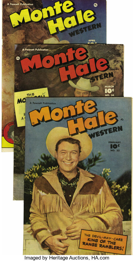 Monte Hale Western #32-40 and 44 Group - Mile High pedigree (Fawcett, 1949-50) Condition: Average NM-. Included here are the... (Total: 10 Comic Books)