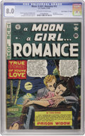 """Golden Age (1938-1955):Romance, A Moon, A Girl...Romance #12 Davis Crippen (""""D"""" Copy) pedigree (EC,1950) CGC VF 8.0 Off-white to white pages. Called """"scarc..."""