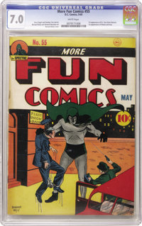 More Fun Comics #55 (DC, 1940) CGC FN/VF 7.0 White pages. Undervalued? You could certainly make that argument about this...