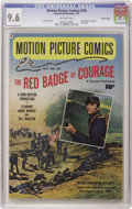 Golden Age (1938-1955):Miscellaneous, Motion Picture Comics #105 Red Badge of Courage - Crowley Copy pedigree (Fawcett, 1951) CGC NM+ 9.6 Off-white pages. This Cr...