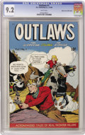 Golden Age (1938-1955):Western, Outlaws #1 Mile High pedigree (D.S. Publishing, 1948) CGC NM- 9.2White pages. This comic mixed Western and Crime genres to ...
