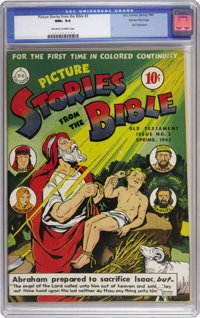 Picture Stories from the Bible #3 (Old Testament) Gaines File pedigree 4/12 (DC, 1943) CGC NM+ 9.6 Off-white to white pa...