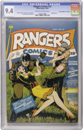 "Golden Age (1938-1955):War, Rangers Comics #13 Davis Crippen (""D"" Copy) pedigree (FictionHouse, 1943) CGC NM 9.4 Cream to off-white pages. Here's a har..."