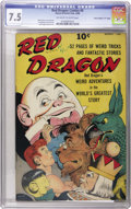"Golden Age (1938-1955):Miscellaneous, Red Dragon Comics #4 Davis Crippen (""D"" Copy) pedigree (Street & Smith, 1948) CGC VF- 7.5 Off-white to white pages. Renowned..."