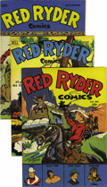 Golden Age (1938-1955):Western, Red Ryder Comics File Copies Group (Dell, 1944-57) Condition:VF/NM. Here are Dell file copies of #22 (NM), 52, #91 (VF-), 1...(Total: 18 Comic Books)