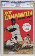 Golden Age (1938-1955):Non-Fiction, Roy Campanella, Baseball Hero #nn (Fawcett Publications, 1950) CGCVF+ 8.5 Off-white pages. Photo cover. Back cover photo pi...