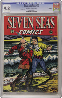 Seven Seas Comics #2 Big Apple pedigree (Universal Phoenix Feature, 1946) CGC NM/MT 9.8 Off-white to White pages. If swa...