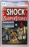 "Golden Age (1938-1955):Horror, Shock SuspenStories #6 Davis Crippen (""D"" Copy) pedigree (EC, 1952)CGC VF 8.0 Off-white to white pages. When it comes to cl..."