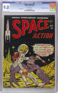 "Golden Age (1938-1955):Science Fiction, Space Action #3 Davis Crippen (""D"" Copy) pedigree (Ace, 1952) CGCVF/NM 9.0 Off-white pages. Here's a title we've offered ra..."