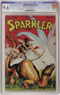 Golden Age (1938-1955):Adventure, Sparkler Comics #39 Lost Valley pedigree (United Features Syndicate, 1944) CGC NM+ 9.6 Off-white to white pages. A Tarzan co...