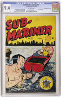 "Golden Age (1938-1955):Superhero, Sub-Mariner Comics #21 ""D"" Copy pedigree (Timely, 1946) CGC NM 9.4 Off-white pages. This copy has sharper corners and a nice..."