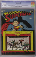 Golden Age (1938-1955):Superhero, Superman #22 (DC, 1943) CGC VF- 7.5 Off-white to white pages. It's not that common in higher grades -- no copy has been cert...