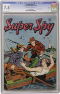 Golden Age (1938-1955):Crime, Super Spy #1 Denver pedigree (Centaur, 1940) CGC VF- 7.5 Off-white to white pages. Here's the first of a two-issue series --...