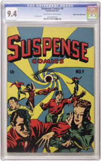 Suspense Comics #9 Mile High pedigree (Continental Magazines, 1945) CGC NM 9.4 Off-white to white pages. The entire run...