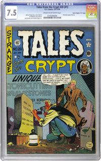 """Tales From the Crypt #20 Davis Crippen (""""D"""" Copy) pedigree (EC, 1950) CGC VF- 7.5 Cream to off-white pages. Th..."""