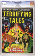 Golden Age (1938-1955):Horror, Terrifying Tales #11 Spokane pedigree (Star Publications, 1953) CGCNM 9.4 White pages. L. B. Cole's cover alone makes this ...