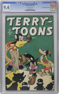 """Terry-Toons Comics #41 Davis Crippen (""""D"""" Copy) pedigree (Timely, 1946) CGC NM 9.4 Off-white pages. This is on..."""