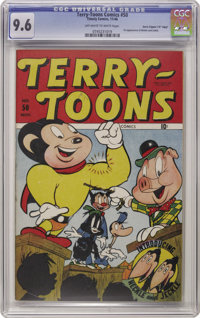 """Terry-Toons Comics #50 Davis Crippen (""""D"""" Copy) pedigree (Timely, 1946) CGC NM+ 9.6 Off-white to white pages..."""
