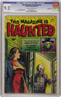 "Golden Age (1938-1955):Horror, This Magazine Is Haunted #5 Crowley Copy pedigree (Fawcett, 1952)CGC NM- 9.2 Off-white to white pages. Doctor Death hosts ""..."