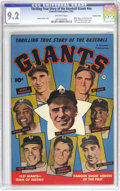 Golden Age (1938-1955):Non-Fiction, Thrilling True Story of the Baseball Giants #nn Crowley Copypedigree (Fawcett, 1952) CGC NM- 9.2 Off-white pages. The cover...