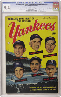 Thrilling True Story of the Baseball Yankees #nn (Fawcett, 1952) CGC NM 9.4 Off-white to white pages. Superb copy of the...