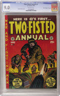 """Golden Age (1938-1955):War, Two-Fisted Annual #1 Davis Crippen (""""D"""" Copy) pedigree (EC, 1952) CGC VF/NM 9.0 Off-white pages. This book in high grade, ar..."""