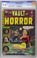 "Golden Age (1938-1955):Horror, Vault of Horror #19 Davis Crippen (""D"" Copy) pedigree (EC, 1951)CGC VF/NM 9.0 Cream to off-white pages. Johnny Craig's cove..."