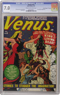 "Golden Age (1938-1955):Horror, Venus #13 Davis Crippen (""D"" Copy) pedigree (Atlas, 1951) CGC FN/VF7.0 Cream to off-white pages. Bill Everett supplied this..."