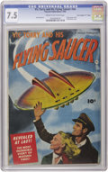 "Golden Age (1938-1955):Science Fiction, Vic Torry & His Flying Saucer #nn Davis Crippen (""D"" Copy)pedigree (Fawcett, 1950) CGC VF- 7.5 Cream to off-white pages.Th..."