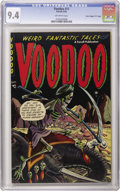 "Golden Age (1938-1955):Horror, Voodoo #11 Davis Crippen (""D"" Copy) pedigree (Farrell, 1953) CGC NM9.4 Off-white pages. This is the only copy of this pre-C..."
