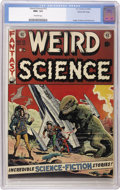 Golden Age (1938-1955):Science Fiction, Weird Science #15 Gaines File pedigree 7/12 (EC, 1952) CGC NM+ 9.6Off-white pages. A classic Wally Wood dinosaur cover high...