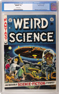 """Golden Age (1938-1955):Science Fiction, Weird Science #16 Gaines File pedigree 3/11 (EC, 1952) CGC NM/MT9.8 Off-white pages. Everyone knows about Wally Wood's """"gir..."""