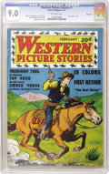 Golden Age (1938-1955):Western, Western Picture Stories #1 Windy City pedigree (Comics Magazine,1937) CGC VF/NM 9.0 Off-white pages. Not only is this issue...