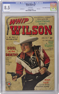 """Whip Wilson #9 Davis Crippen (""""D"""" Copy) pedigree (Marvel, 1950) CGC VF+ 8.5 White pages. This is the first iss..."""