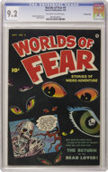 Golden Age (1938-1955):Horror, Worlds of Fear #4 Crowley Copy pedigree (Fawcett, 1952) CGC NM- 9.2Off-white to white pages. Sheldon Moldoff provides the c...