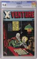Golden Age (1938-1955):Horror, X-Venture #1 (Victory Magazines, 1947) CGC VF/NM 9.0 White pages.This creepy first issue cover, complete with a candle-topp...