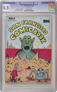 San Francisco Comic Book #1 (Print Mint, 1970) CGC VF+ 8.5 Off-white pages. The late Rory Hayes was considered to be the...