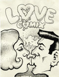 """Original Comic Art:Covers, Robert Crumb - """"Love Comix"""" Original Art (Unpublished, circa 1967).Two young lovers lock lips on this wild, unpublished cov..."""
