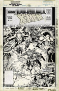 Original Comic Art:Covers, Arthur Adams - The Uncanny X-Men Annual #12 Cover Original Art(Marvel, 1988). While Storm leads the X-Men to the Savage Lan...