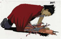 "Animation Art:Production Cel, Akira ""Shima Tetsuo"" Animation Production Cel Original Art, Groupof 2 (Kodansha, 1988). Doomed ""Akira Project"" test subject...(Total: 3 Items)"