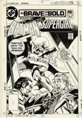 Original Comic Art:Covers, Jim Aparo - The Brave and the Bold #160 Cover Original Art(DC,1980). In 1971, Jim Aparo was assigned a fill-in job as thea...