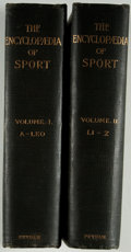 Books:Sporting Books, [Hedley Peek and F. G. Aflalo, editors]. The Encyclopaedia ofSport. New York: Putnam's, 1898-1899. First editio... (Total: 2Items)