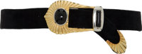 Hermes Double-Sided Black & Rouge Vif Calf Box Leather Belt with Gold Clasp