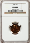 Proof Lincoln Cents: , 1942 1C PR64 Red and Brown NGC. NGC Census: (160/75). PCGSPopulation (156/39). Mintage: 32,600. Numismedia Wsl. Price for ...