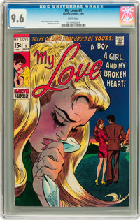 My Love #1 (Marvel, 1969) CGC NM+ 9.6 White pages