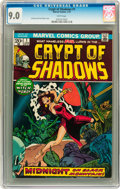 Bronze Age (1970-1979):Horror, Crypt of Shadows #1 (Marvel, 1973) CGC VF/NM 9.0 White pages....