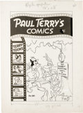 Original Comic Art:Covers, Art Bartsch - Paul Terry's Comics #90 Cover Original Art (St. John,1954). Gandy Goose and company find themselves in the mi...