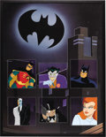 "Animation Art:Production Cel, ""Batman: The Animated Series"" Production Cel Original Art, Group of 6 (Warner Bros., 1992). This incredible collection of ha..."